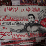 Cartel de la acampada protesta de Coca Cola