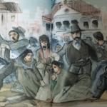 """Ilustración de Jaime Pandelet para el libro """"1888, el año de los tiros"""""""