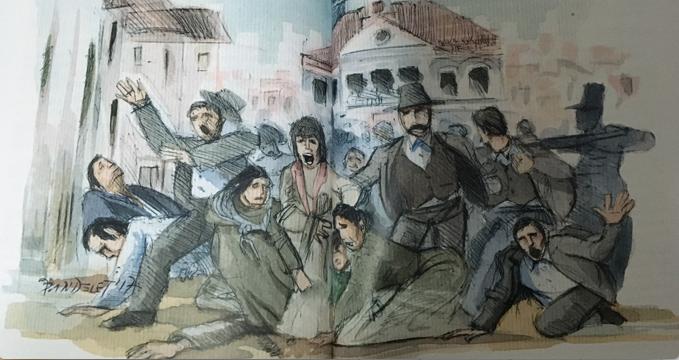 Ilustración de Jaime Pandelet para el libro