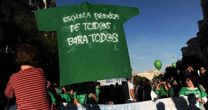 Manifestación por la educación pública. FERNANDO SÁNCHEZ