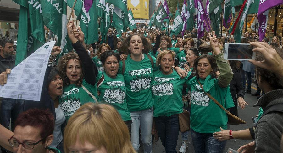 Acto público de las trabajadoras en Bilbao / Eusko Langileen Alkartasuna (ELA)